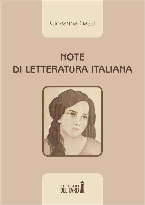 Note di letteratura italiana