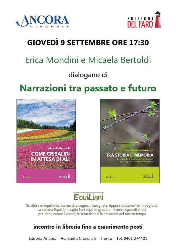 La memoria storica protagonista nell'incontro con Erica Mondini e Micaela Bertoldi alla libreria Ancora di Trento